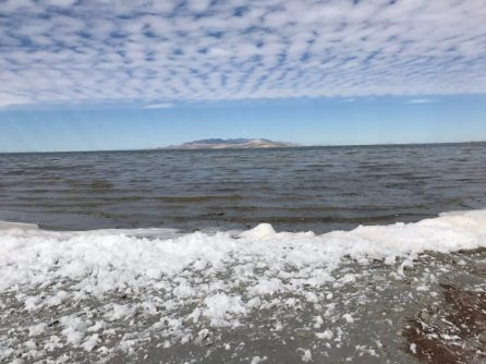Foam and clouds, Antelope Island