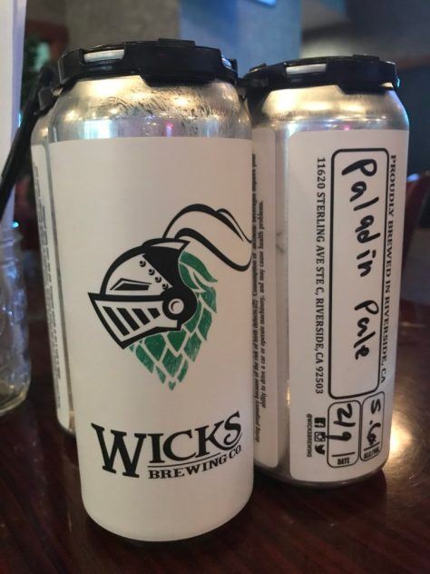 Side Trip to Wicks Brewing in Riverside - IPA to go