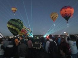 Lazer light show augments the dawn patrol
