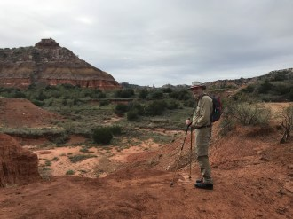 Bruce hiking in Palo Duro Canyon