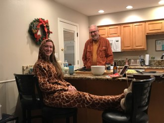 Finally, cold enough to wear the giraffe onesie