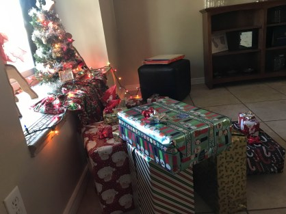 Gifts are bigger than the tree!