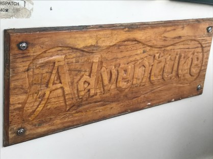 Our boat's is named Adventure