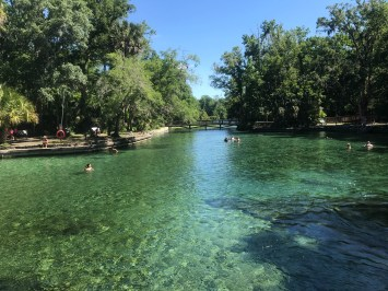Springs stay at 72 degrees and are less crowded on weekdays