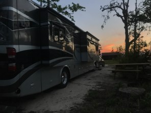 Sunset at our site in Torreya State Park