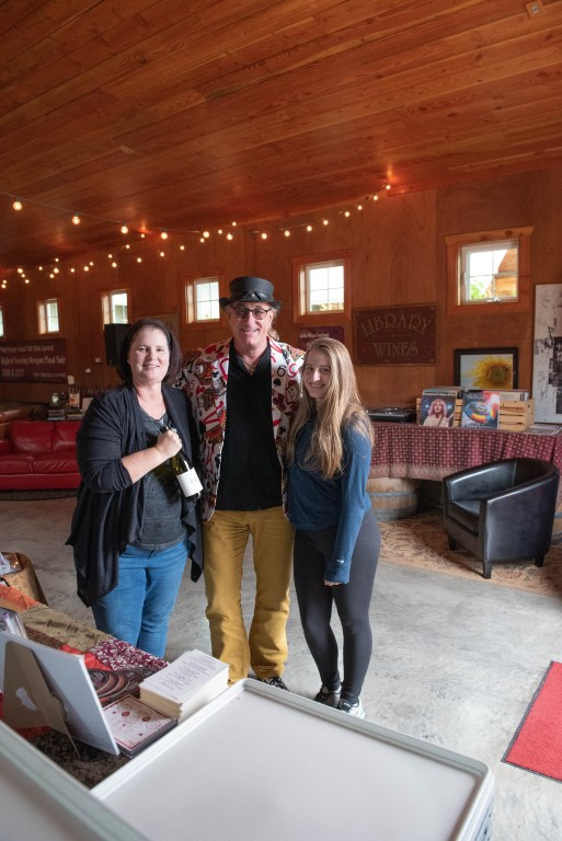 Kelley and Gillian pose with Wayne of Oregon Select Wine Tours