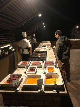 Sossusvlei Lodge Grills all kinds of Game Meat