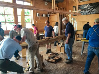 Boatbuilder's workshop is open to the public