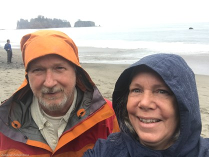 The rain didn't stop our outing to Rialto Beach
