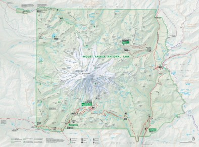 Mount Rainier Park Map (NPS)
