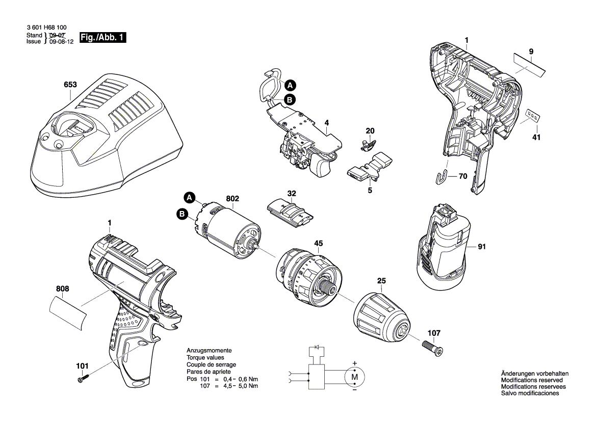 Pieces Detachees Perceuses Visseuses Bosch Gsr 10 8 V Li 2