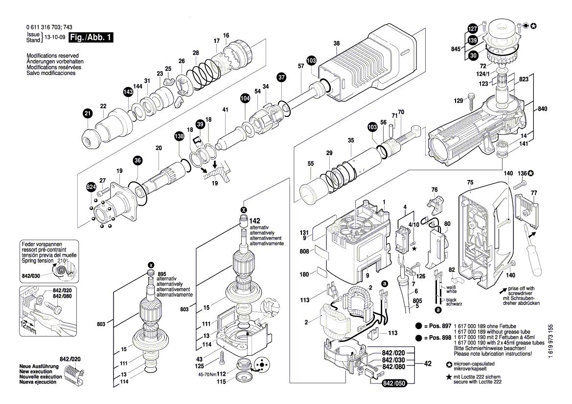 Pieces Detachees Marteau Piqueur Bosch Gsh 11 E