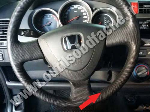 No matter what the model year, there are thousands of aftermarket parts available for honda accords. OBD2 connector location in Honda Fit (2002 - 2008