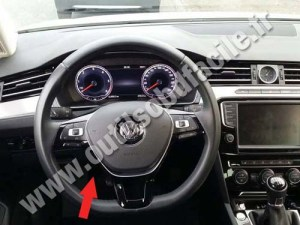 OBD2 connector location in Volkswagen Passat B8 (2015  )  Outils OBD Facile