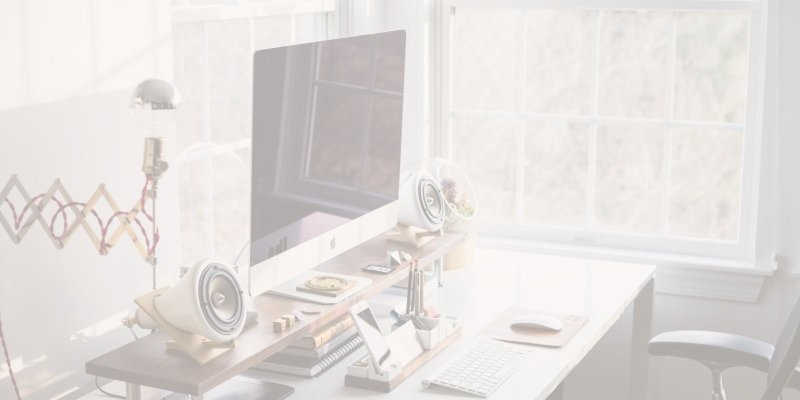 The desktop, Mac computer and stationary of someone who has found their passion career