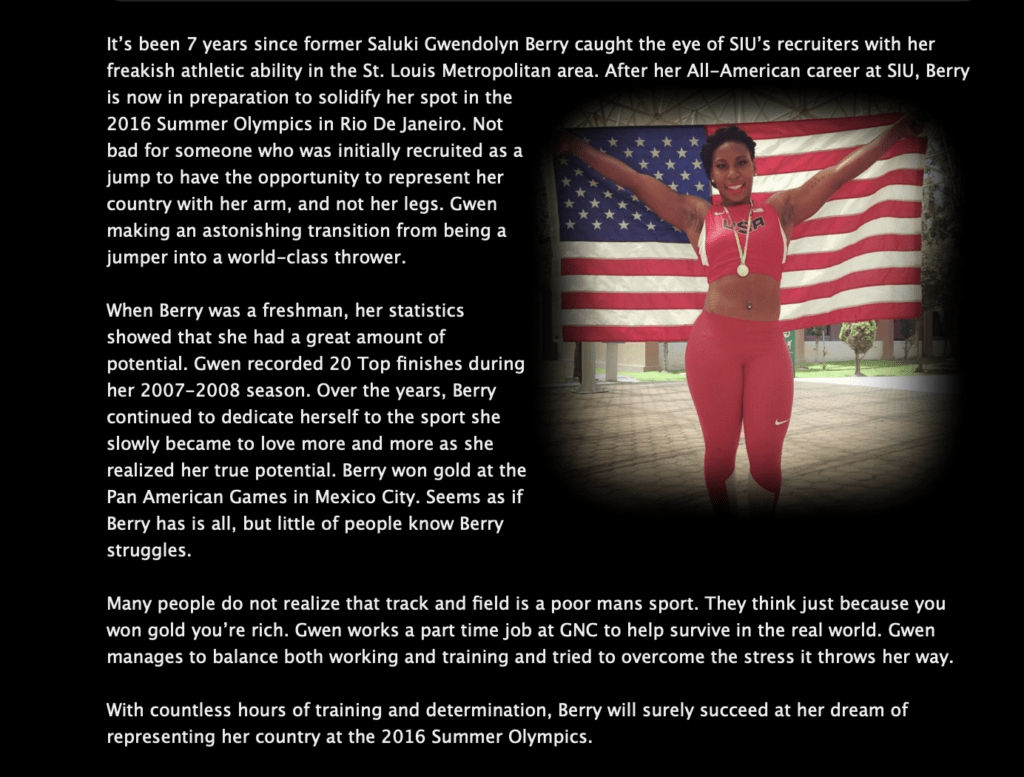 , Flashback: Gwen Berry Once Stood Proudly for the American Flag, Nzuchi Times Breitbart