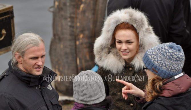 outlander episode 407, behind the scenes filming outlander season 4
