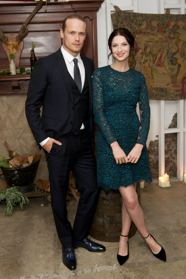 Sam Heughan and Caitriona Balfe at the Amazon Prime London Premiere of 'Outlander '