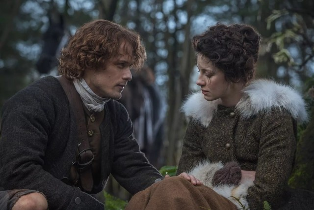 Sam Heughan and Cantriona Balfe (Jamie Fraser and Claire Randall Fraser)