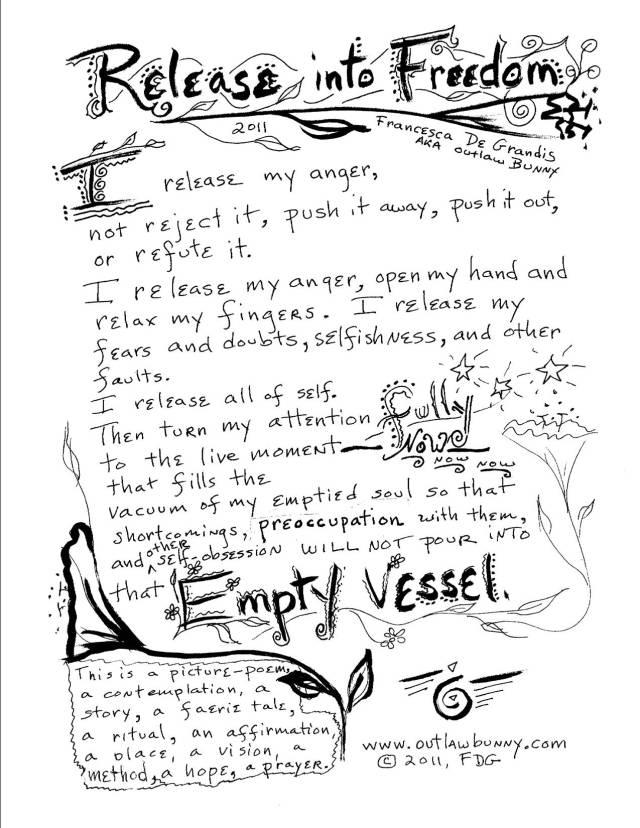 Release Into Freedom, Picture-Poem by Francesca De Grandis