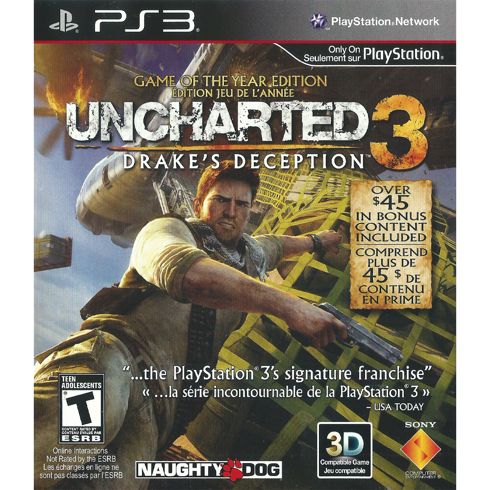 Uncharted 3 Drake S Deception Game Of The Year Edition Ps3