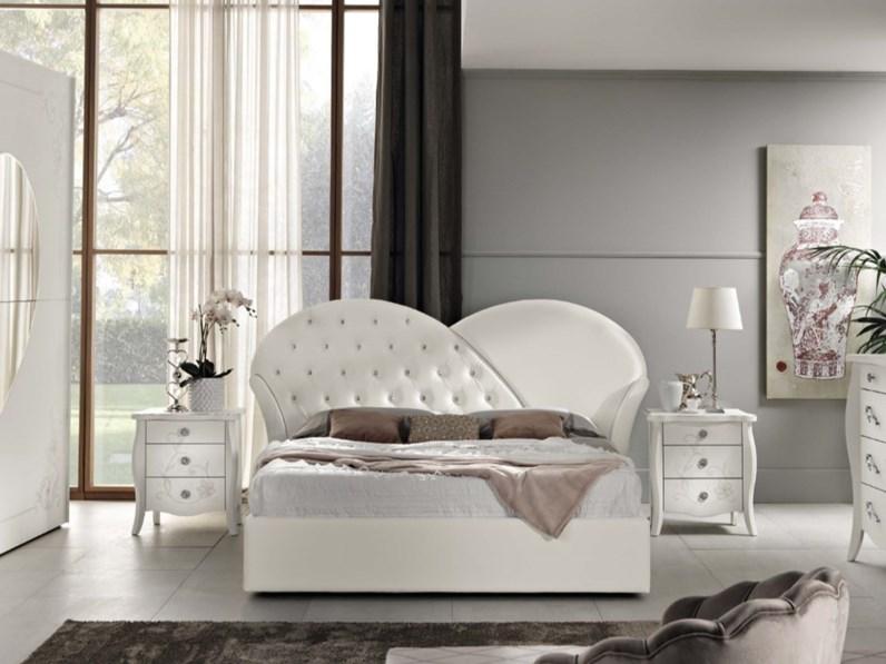 Camera da letto spar collezione prestige bianca frassinata: Camera Completa Marlene 1 Spar Prezzi Outlet