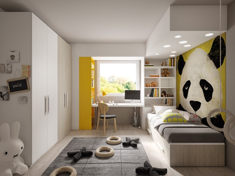 Living big in a tiny house recommended for you. Cameretta Smile 21 Giessegi Con Letto A Terra A Prezzo Outlet