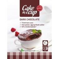 Productos de chocolate para diabéticos. Bizcocho en Taza de Chocolate Negro Sukrin