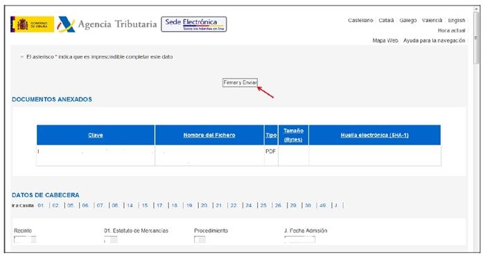 gestión del Dua Agencia Tributaria9