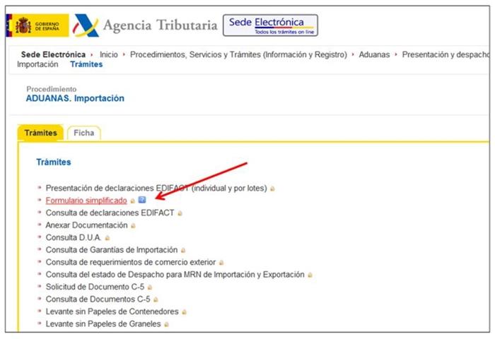 gestión del Dua Agencia Tributaria3