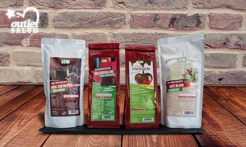 La marca LCW con sede en Alemania, elabora chocolates bajos en carbohidratos y suple los azúcares con los mejores edulcorantes naturales conocidos, Outletsalud
