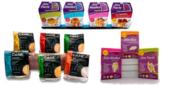SLIM PASTA y CARBX la Pasta sin Carbohidratos, en Outletsalud para la Dieta Pronokal