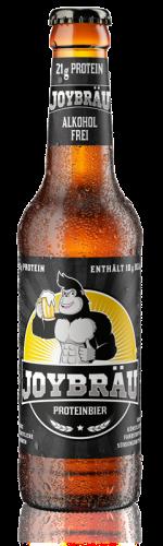 Botella JoyBräu Cerveza Proteica sin Alcohol, en Outletsalud
