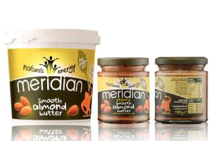 Cremas lowcarb 100% naturales de almendra de Meridian Foods