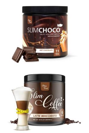 Preparado para chocolate y café Slim Choco y Slim Coffee de Clean Foods en OutletSalud