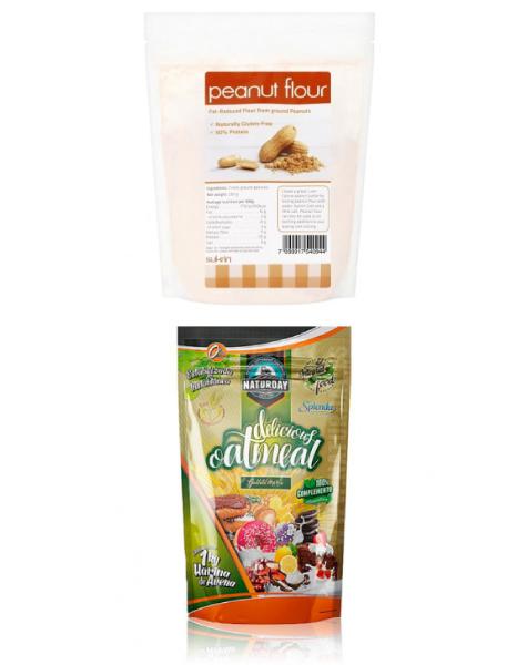 Harinas de Cacahuete libres de gluten, ricas en fibra y proteínas, bajas en carbohidratos