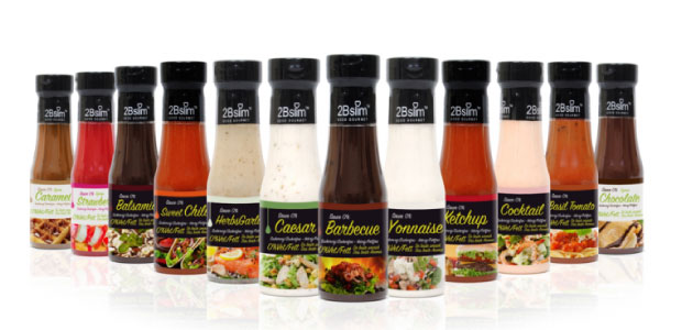 Salsas y Siropes sin carbohidratos y sin azúcar 2BSlim en Outletsalud