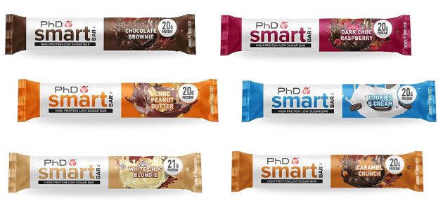 Barritas Smart Bar PhD Nutrition bajas en carbohidratos en Outletsalud