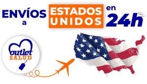Envíos a Estados Unidos en 24 horas desde OutletSalud