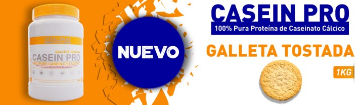 Nuevo Casein Pro 100% Pura Proteína de Caseinato Cálcico con Matriz Activa sabor Galleta Tostada