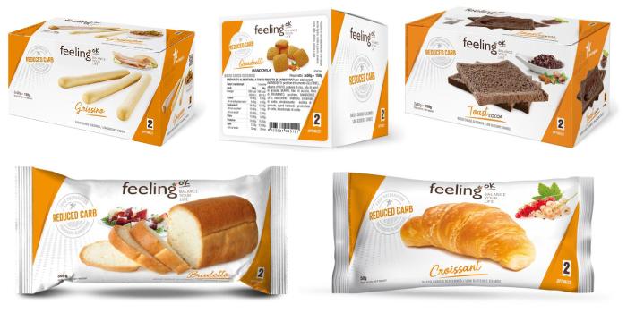 Alimentos bajos en carbohidratos FeelingOk Línea 2 Optimize