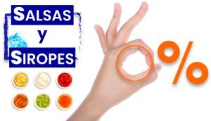 Salsas y Siropes 0% sin carbohidratos en OutletSalud
