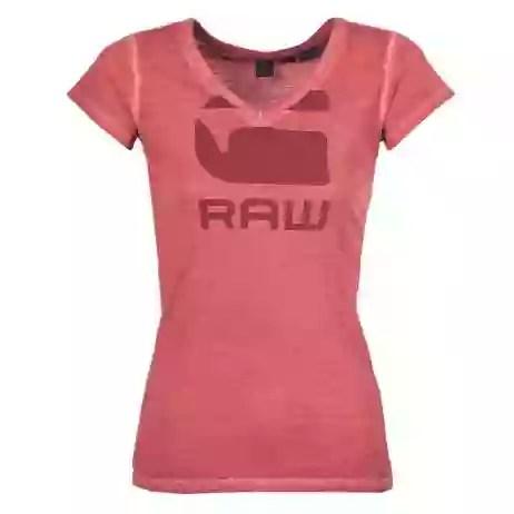 T-shirt donna G-Star Raw  SUPHE SLIM  Rosso G-Star Raw 8719369849916