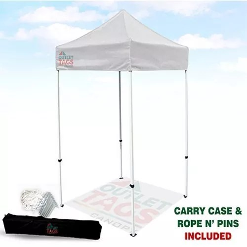 5x5 White Iron Horse Canopy  sc 1 st  Outlet Tags : 5x5 pop up tent - memphite.com
