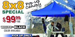 8x8 pop-up canopy special