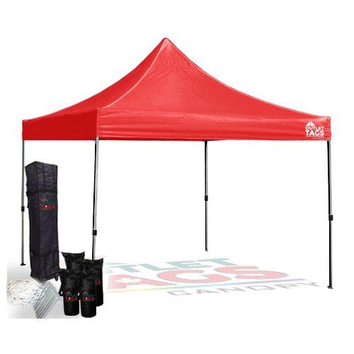 Light Duty Steel Tent Canopy - Red