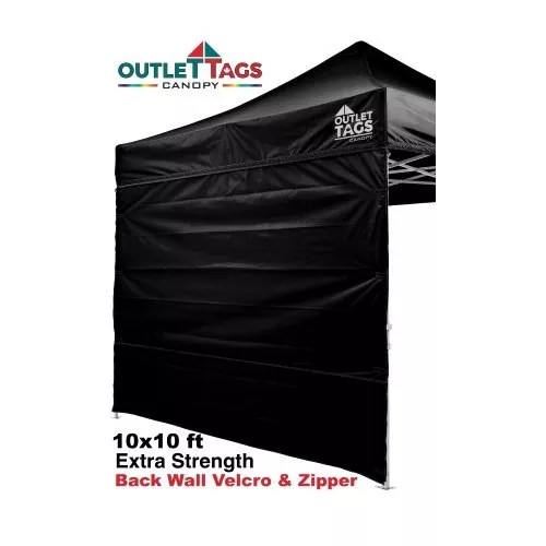 Full Back Tent Wall Colour Black