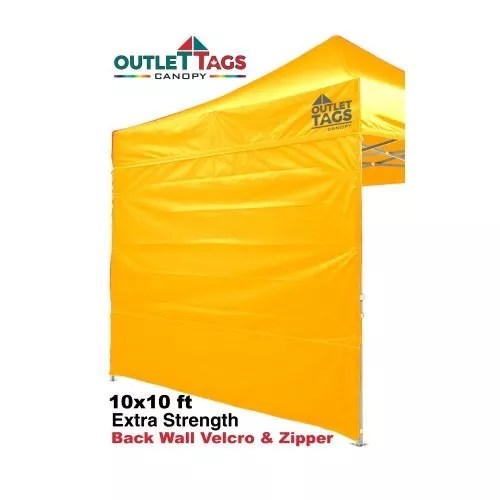 Full Back Tent Wall Colour Yellow