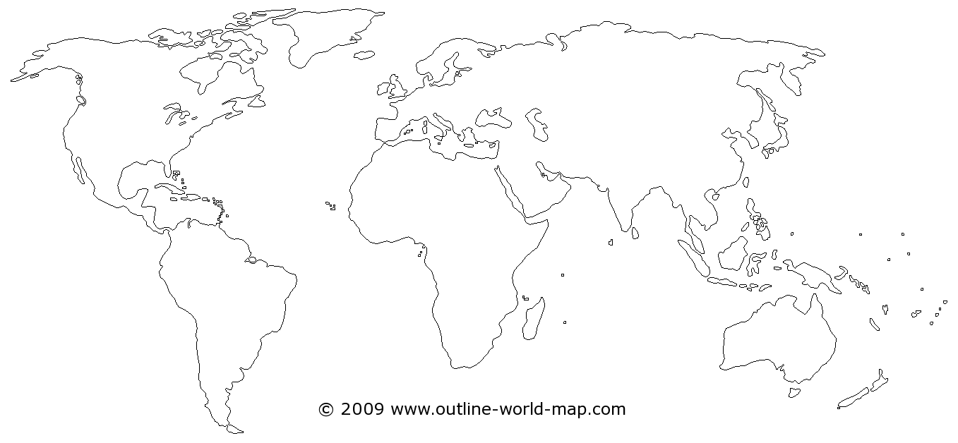 Blank maps of the world with transparent areas   Outline World Map     Small image   link to the big world map b2a