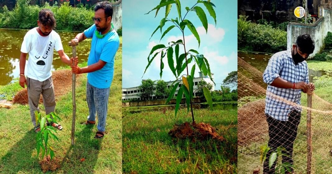 ex students tree plantation program at nalhati
